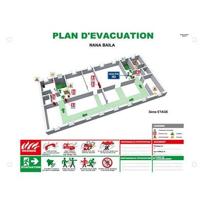 Plan d'évacuation 3D