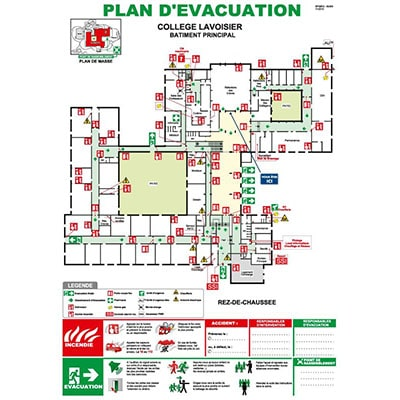 Plan d'évacuation collège