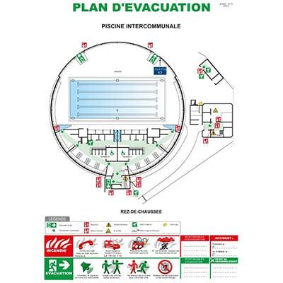 Plan d'évacuation piscine